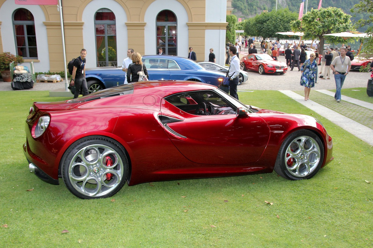 Alfa Romeo 4c Displayed At Villa Deste In All Its Glory Paint Codes Stunning