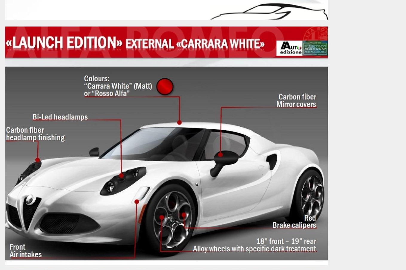 Alfa Romeo C Full Specs Revealed By Leaked Brochure
