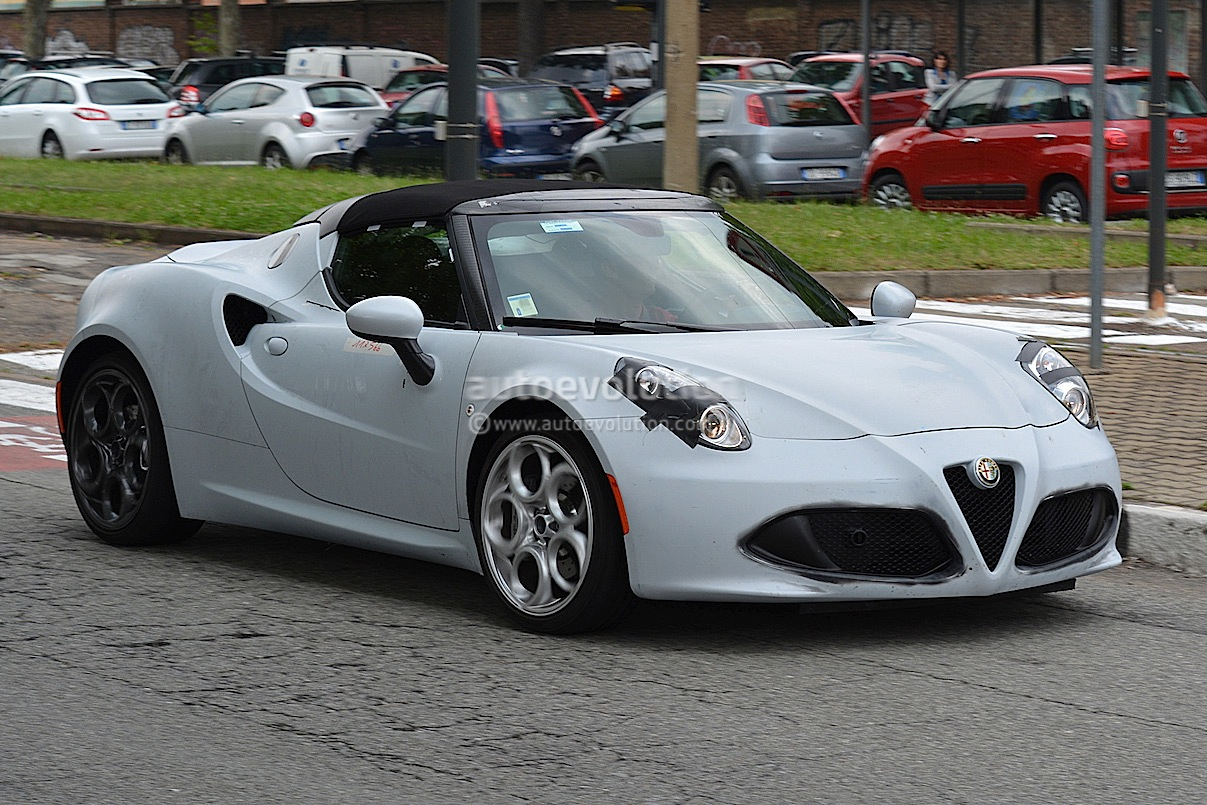 Alfa Romeo 4c Spider Spied In Production Form Will Debut