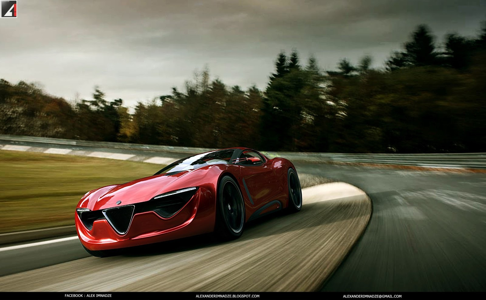 2017 Alfa Romeo 4c >> Alfa Romeo 6C Concept - the Italian Musclecar - autoevolution