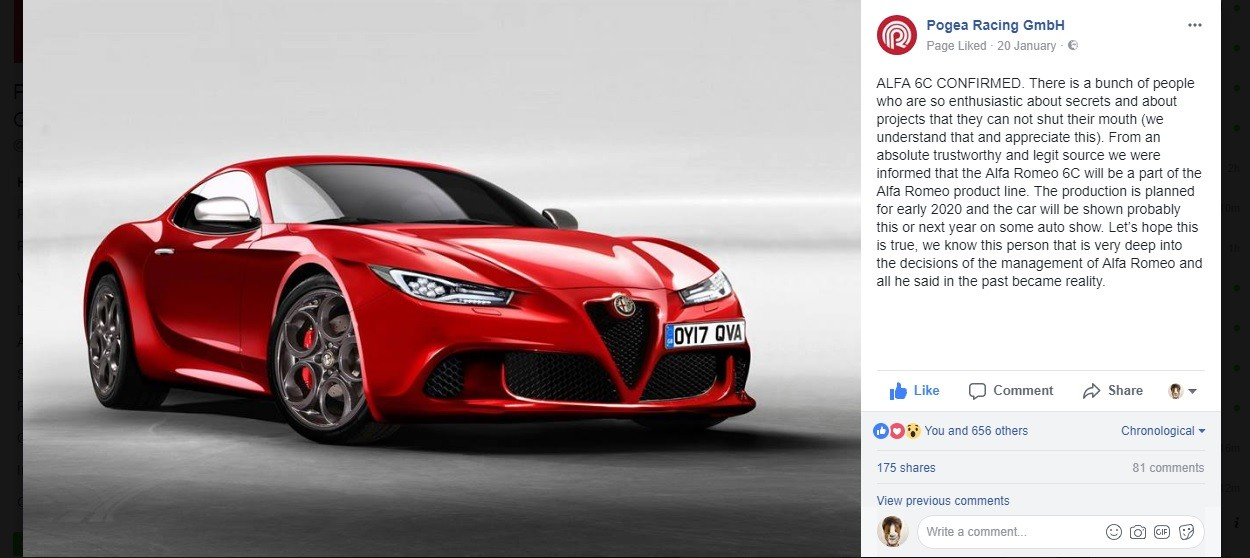 Ferrari New Models 2018 >> 2020 Alfa Romeo 6C (Tipo 963) Reportedly Confirmed For Production - autoevolution