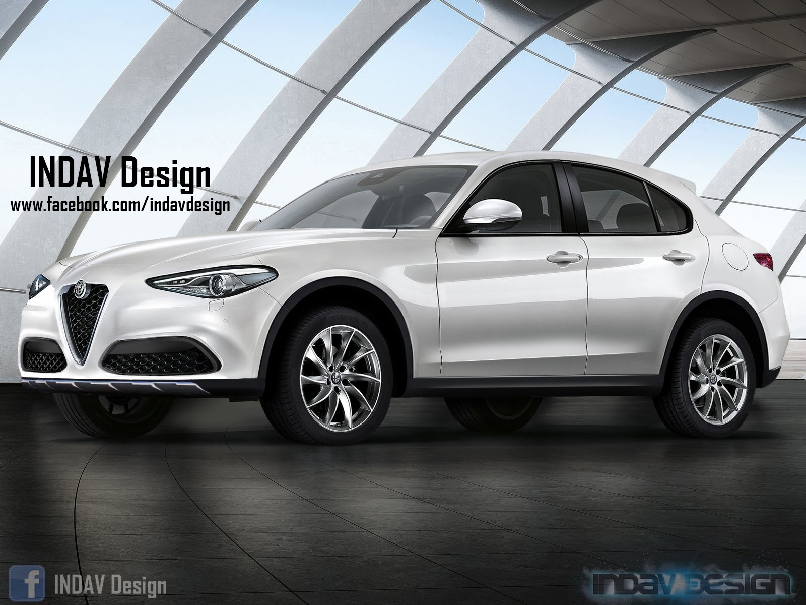 alfa romeo stelvio tipo 949 d suv rendered by indav design autoevolution. Black Bedroom Furniture Sets. Home Design Ideas