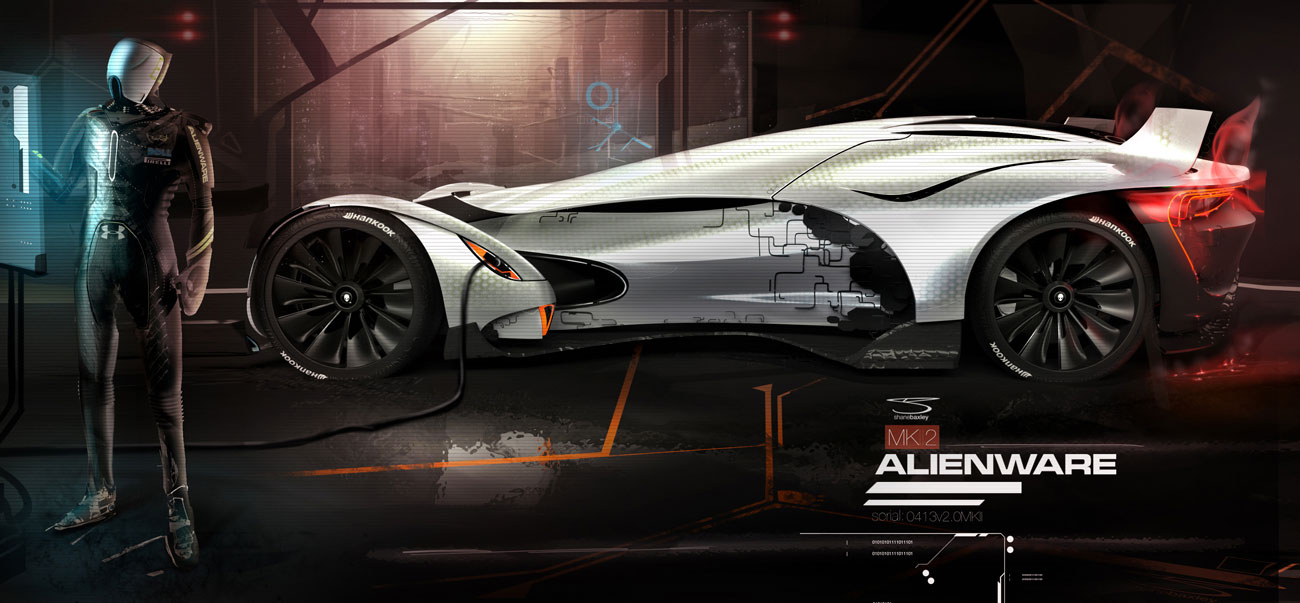 alienware race car concept imagined autoevolution. Black Bedroom Furniture Sets. Home Design Ideas