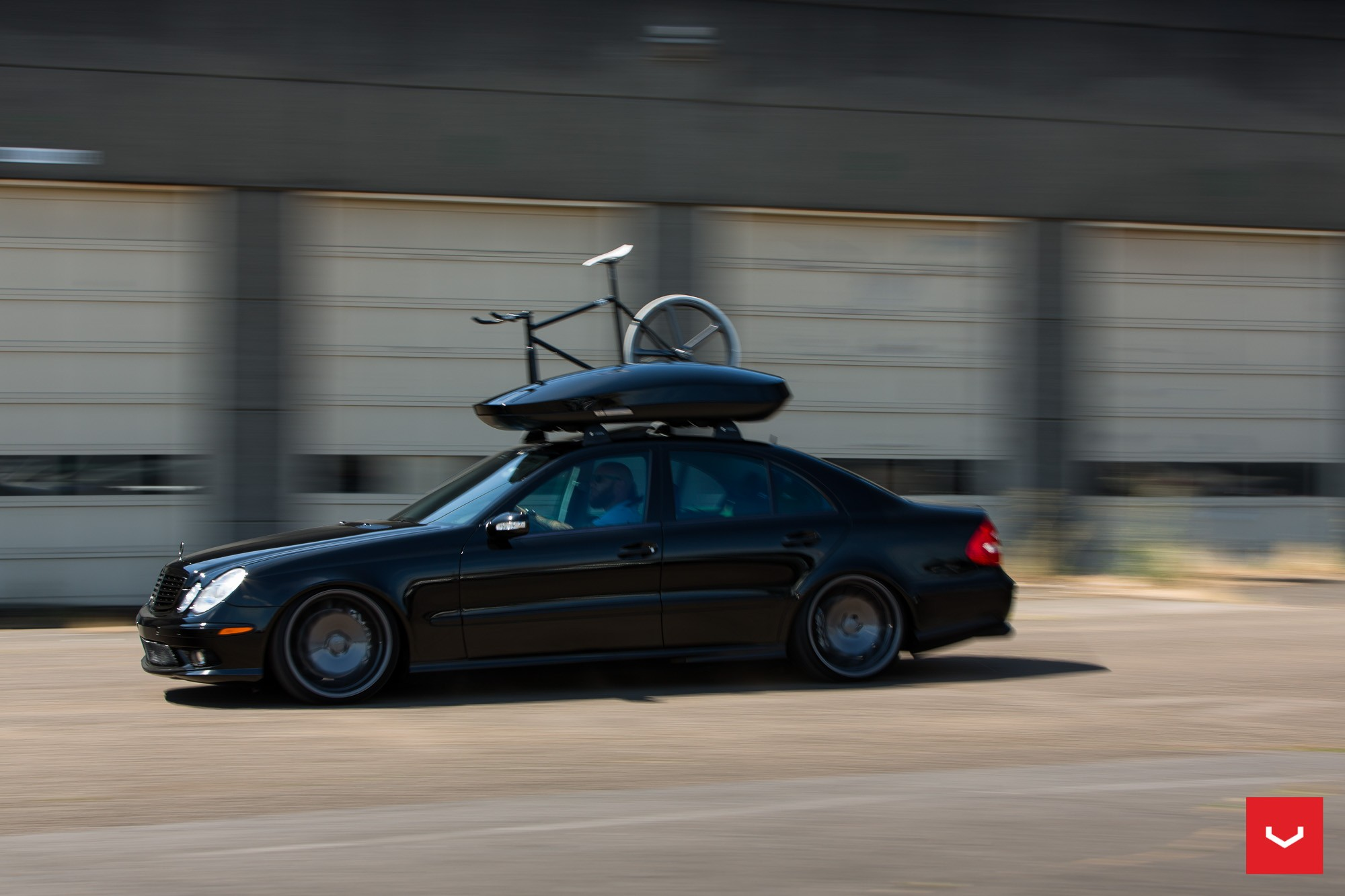 All Black Mercedes E55 Amg Rides On Vossen Wheels Carries