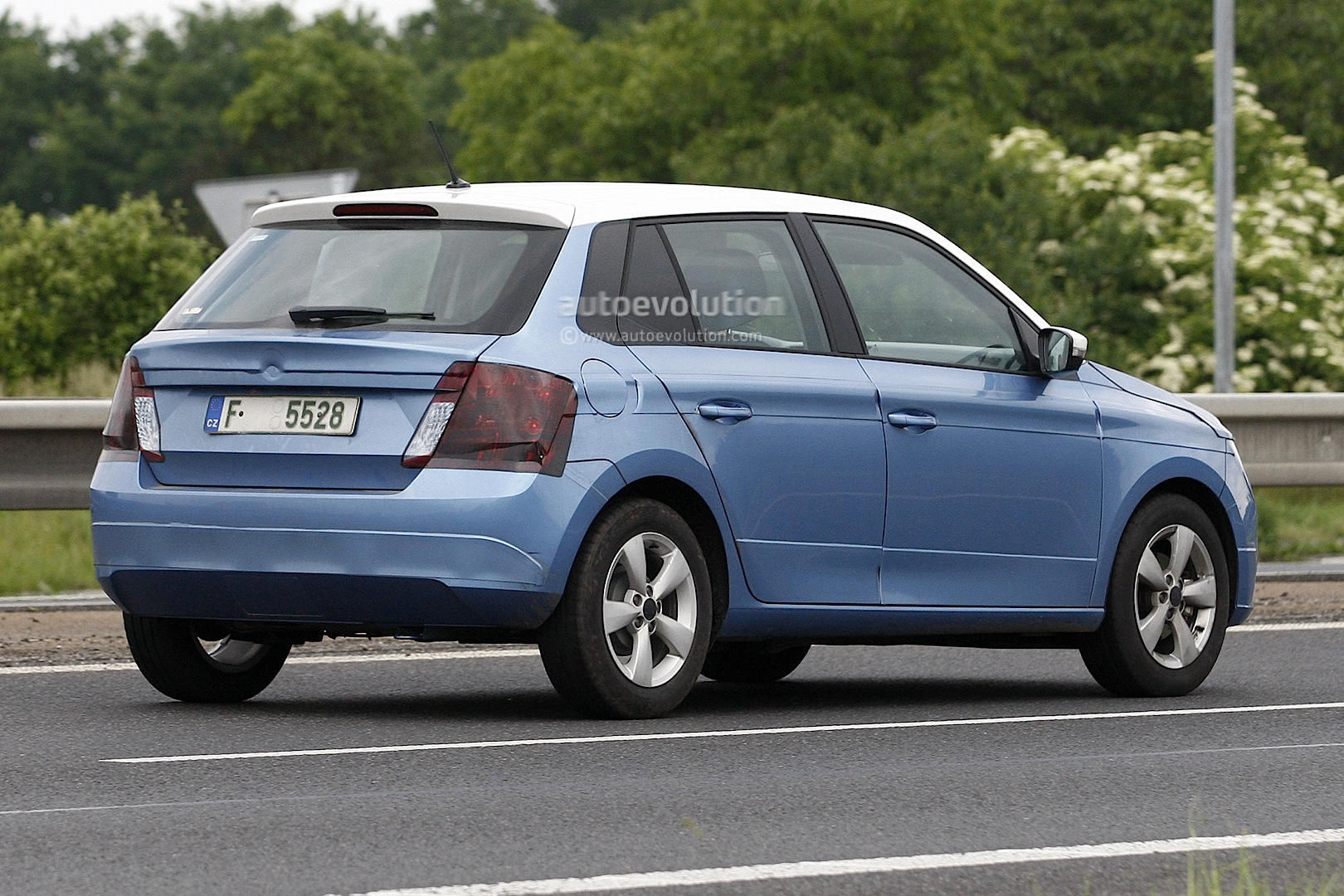 all new 2014 skoda fabia spotted almost undisguised. Black Bedroom Furniture Sets. Home Design Ideas