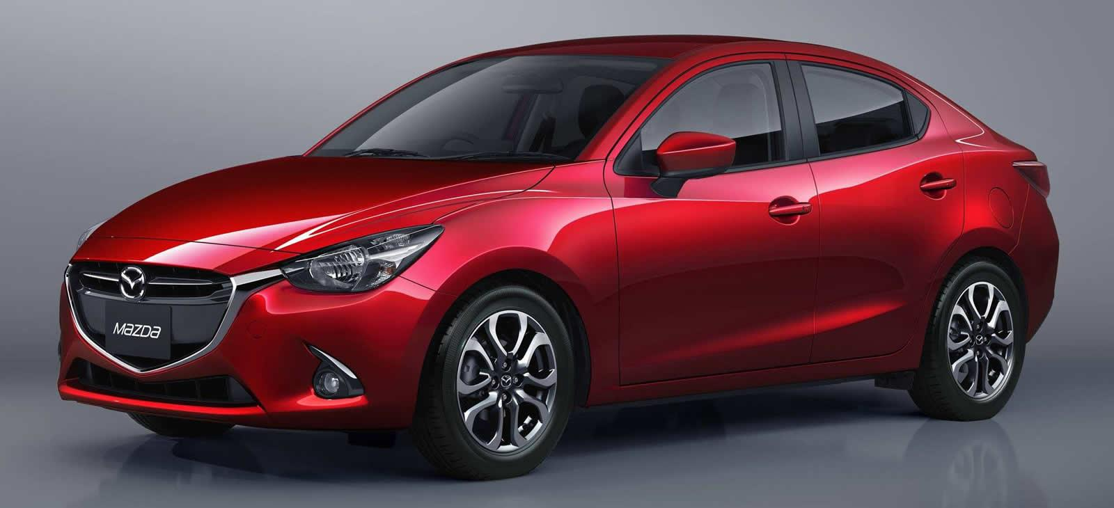 all new 2015 mazda2 sedan revealed ahead of thailand debut autoevolution. Black Bedroom Furniture Sets. Home Design Ideas