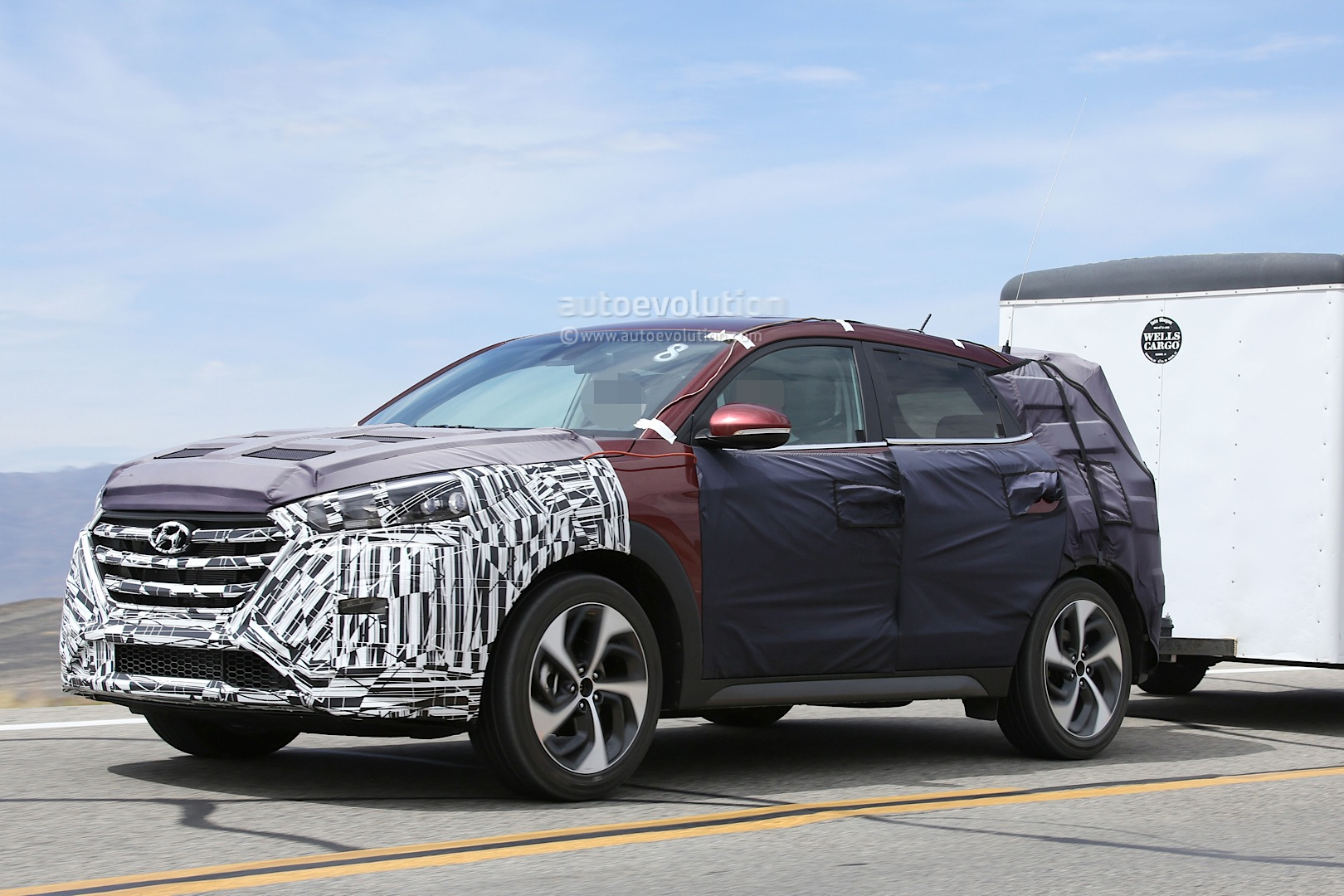 All New 2016 Hyundai Tucson Spied With Less Camouflage In America Autoevolution