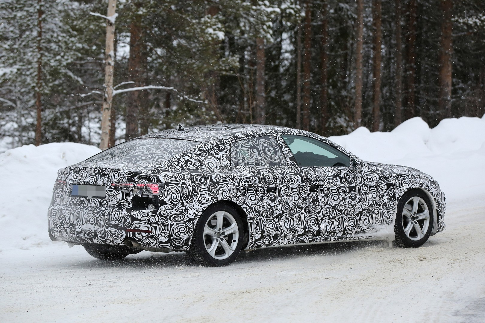 All-New 2017 Audi A5 Sportback 4-Door Coupe Spied for the First Time