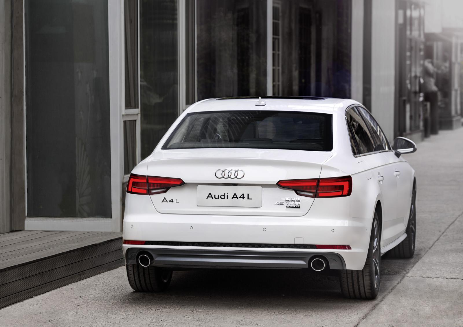 all new audi a4 l debuts in china is offered with 2 0 turbo engines autoevolution. Black Bedroom Furniture Sets. Home Design Ideas