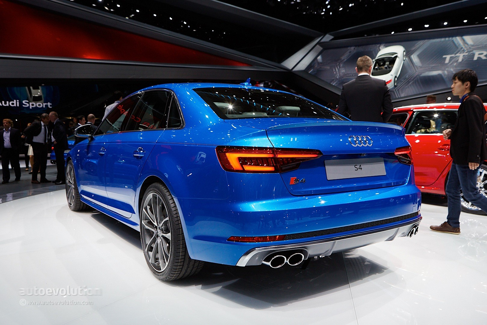 all new audi s4 sedan debuts with 3 liter turbocharged engine in frankfurt autoevolution. Black Bedroom Furniture Sets. Home Design Ideas