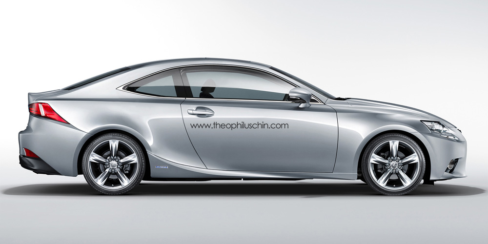 all new lexus is coupe rendering autoevolution. Black Bedroom Furniture Sets. Home Design Ideas