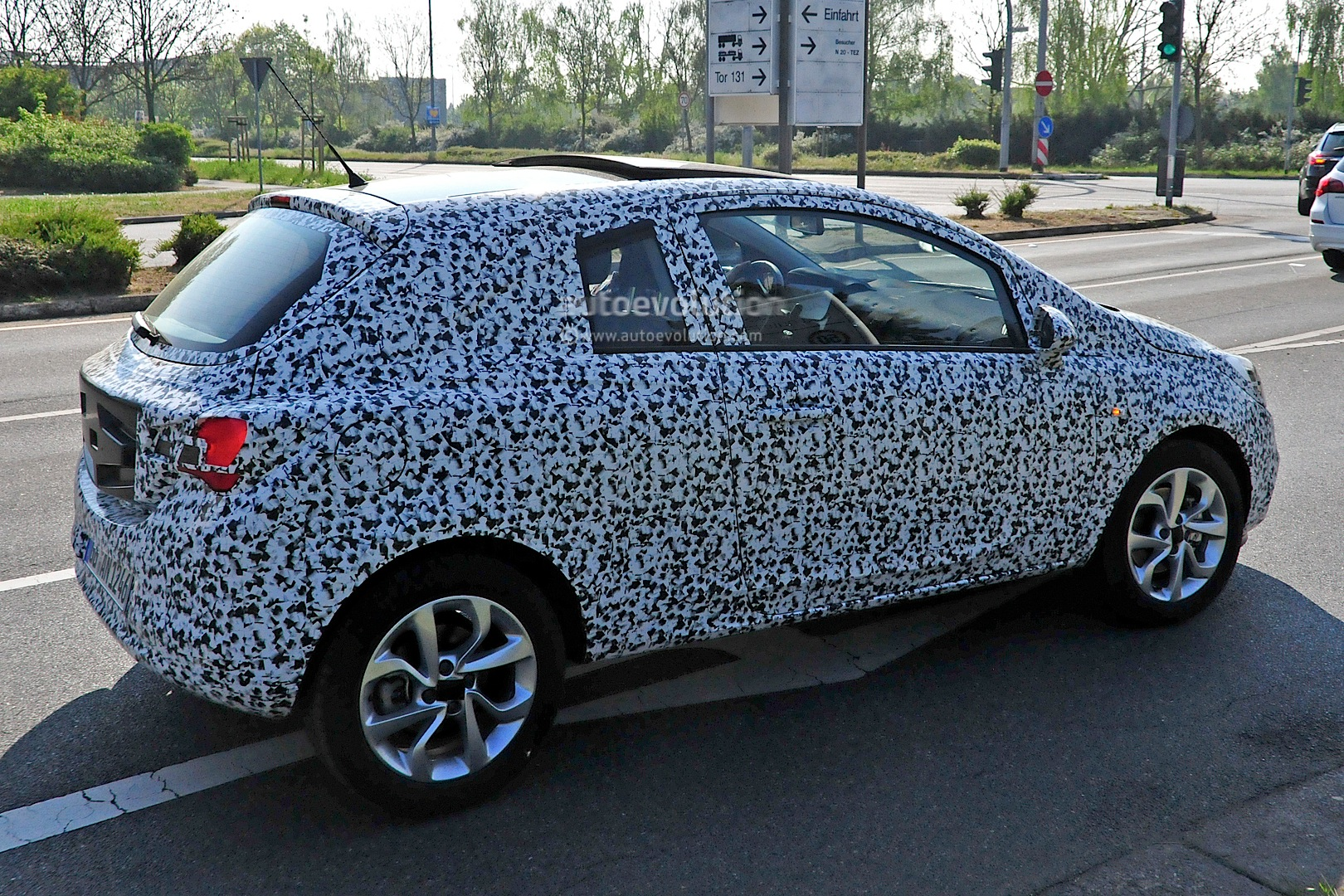 All New Opel Corsa E Spied With Led Headlight Accents And