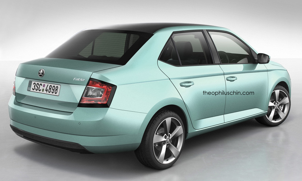 all new skoda fabia sedan rendered should they build it autoevolution. Black Bedroom Furniture Sets. Home Design Ideas