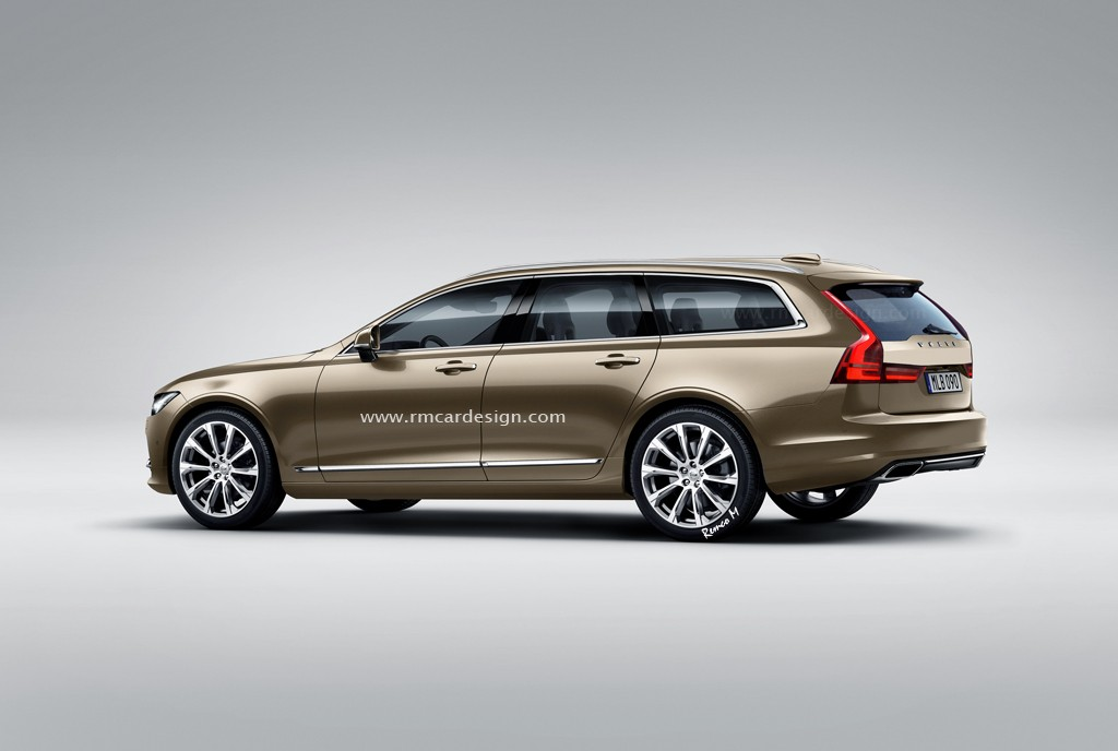 All New Volvo V90 Accurately Rendered Based On S90 Sedan