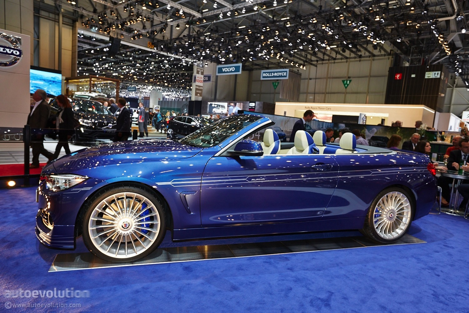 Alpina b4 convertible makes a first appearance at geneva live photos autoevolution