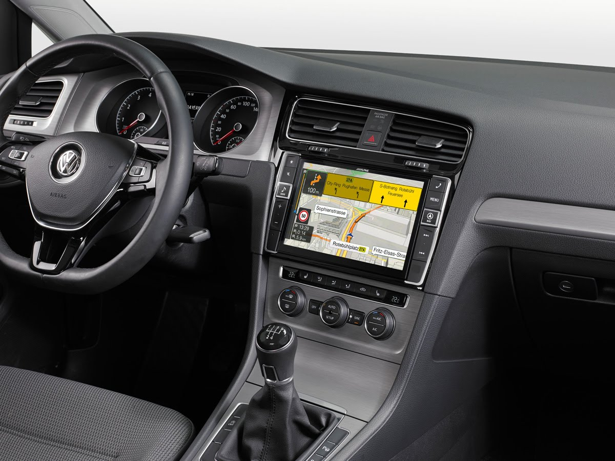 alpine 9 inch navigation for vw golf 7 comes with installation video