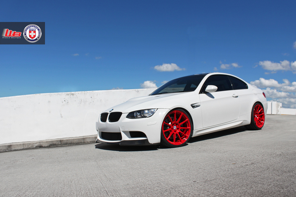 Red Bmw White Wheels