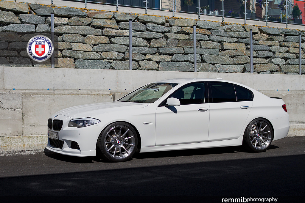 alpine white bmw f10 520d rides clean on hre wheels. Black Bedroom Furniture Sets. Home Design Ideas