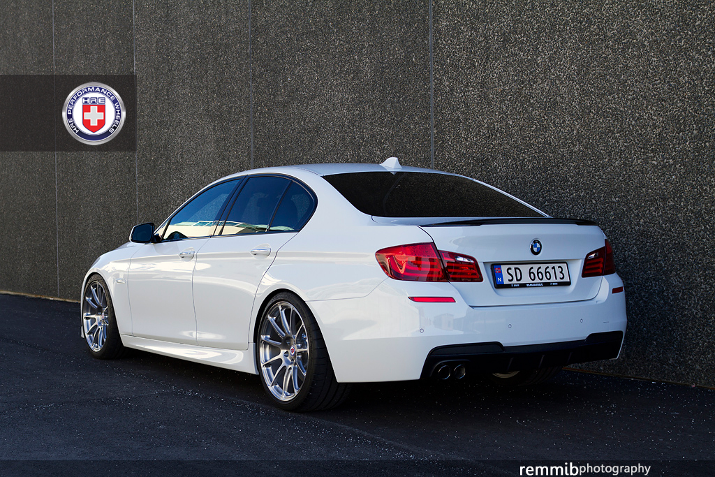 alpine white bmw f10 520d rides clean on hre wheels autoevolution. Black Bedroom Furniture Sets. Home Design Ideas