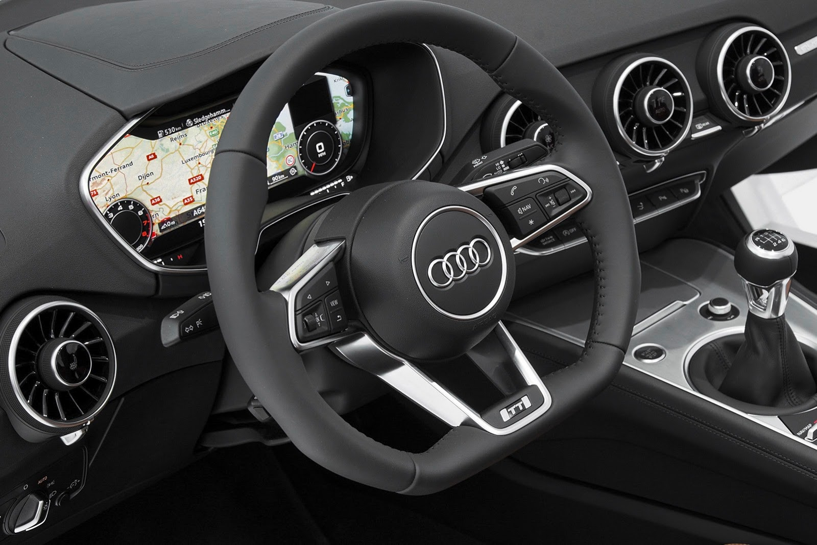 amazing new 2015 audi tt interior fully detailed at ces autoevolution. Black Bedroom Furniture Sets. Home Design Ideas