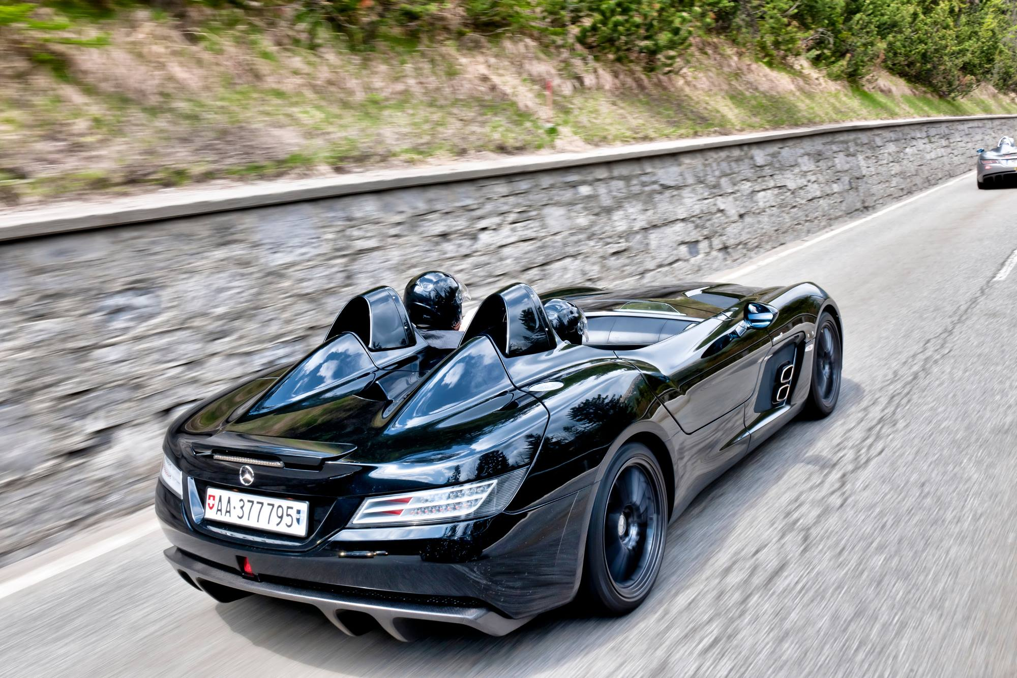 An Slr Mclaren Convoy Is A Sight To Remember In The Alps