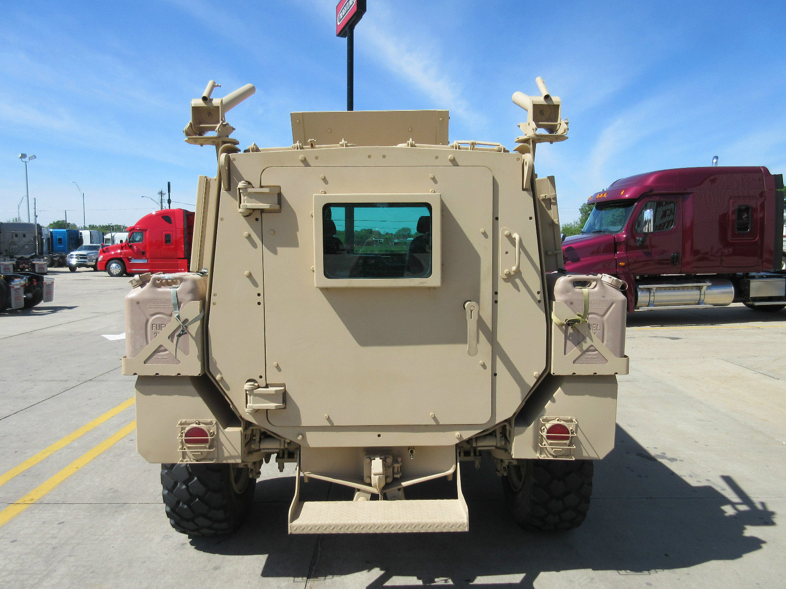 Oshkosh SandCat, on Display at the International Armored Vehicles ...