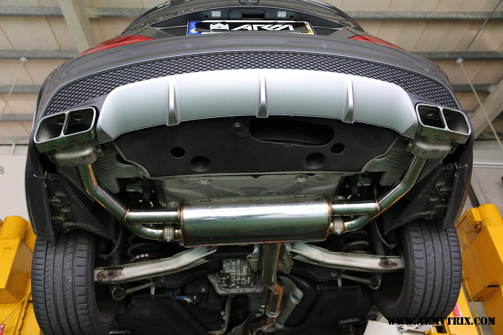 Armytrix Exhaust For Mercedes Cla 45 Amg Machine Gun