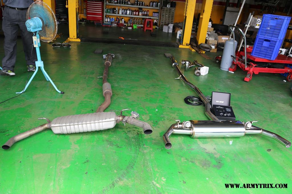 Armytrix Exhaust For Mercedes Cla 45 Amg Machine Gun