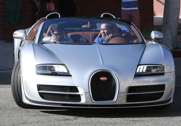 Arnold Schwarzenegger Seen Driving His Bugatti Not That
