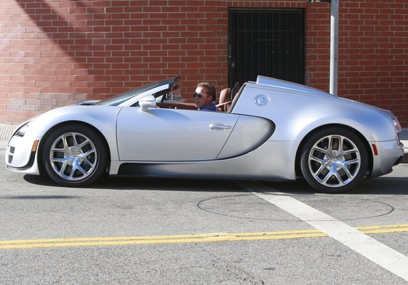 Arnold Schwarzenegger Seen Driving His Bugatti Not That