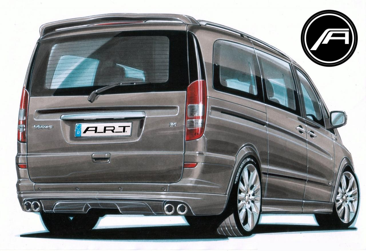 a r t previews mercedes viano tuning kit autoevolution. Black Bedroom Furniture Sets. Home Design Ideas