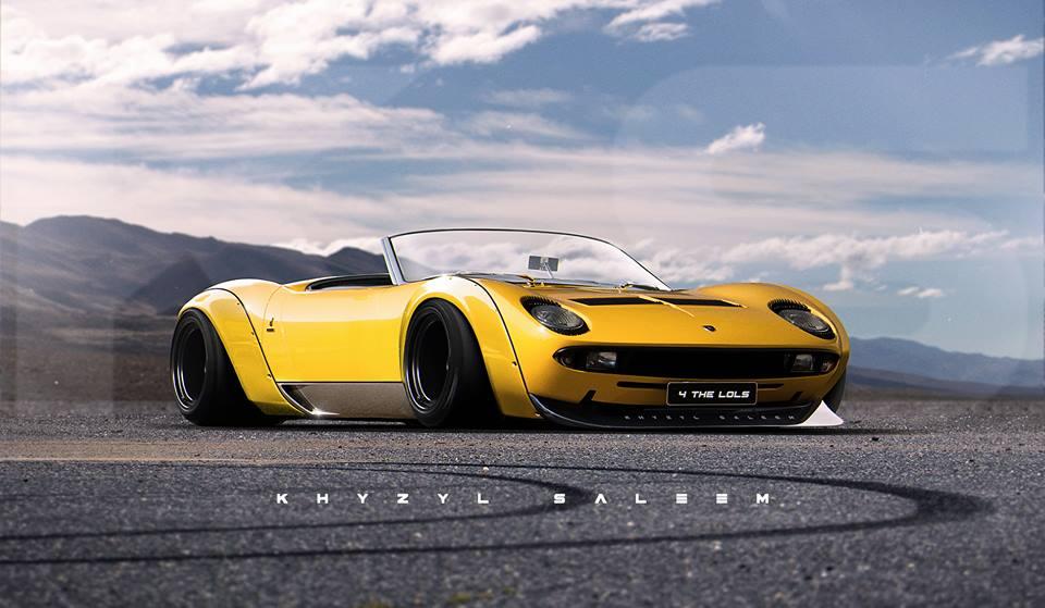 Artist Butchers Lamborghini Miura In Widebody Roadster