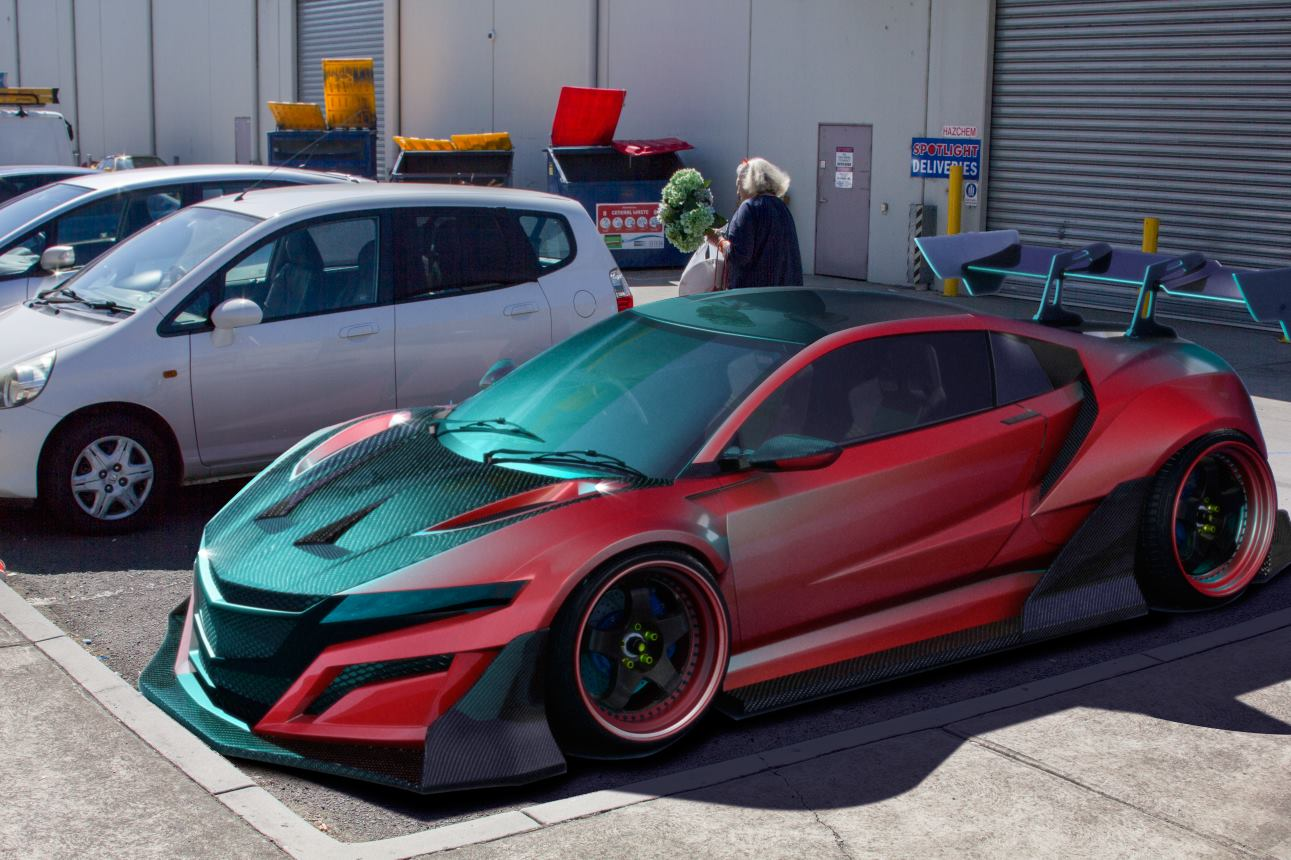artist creates 2015 honda nsx super gt race car pits it against gt r autoevolution. Black Bedroom Furniture Sets. Home Design Ideas