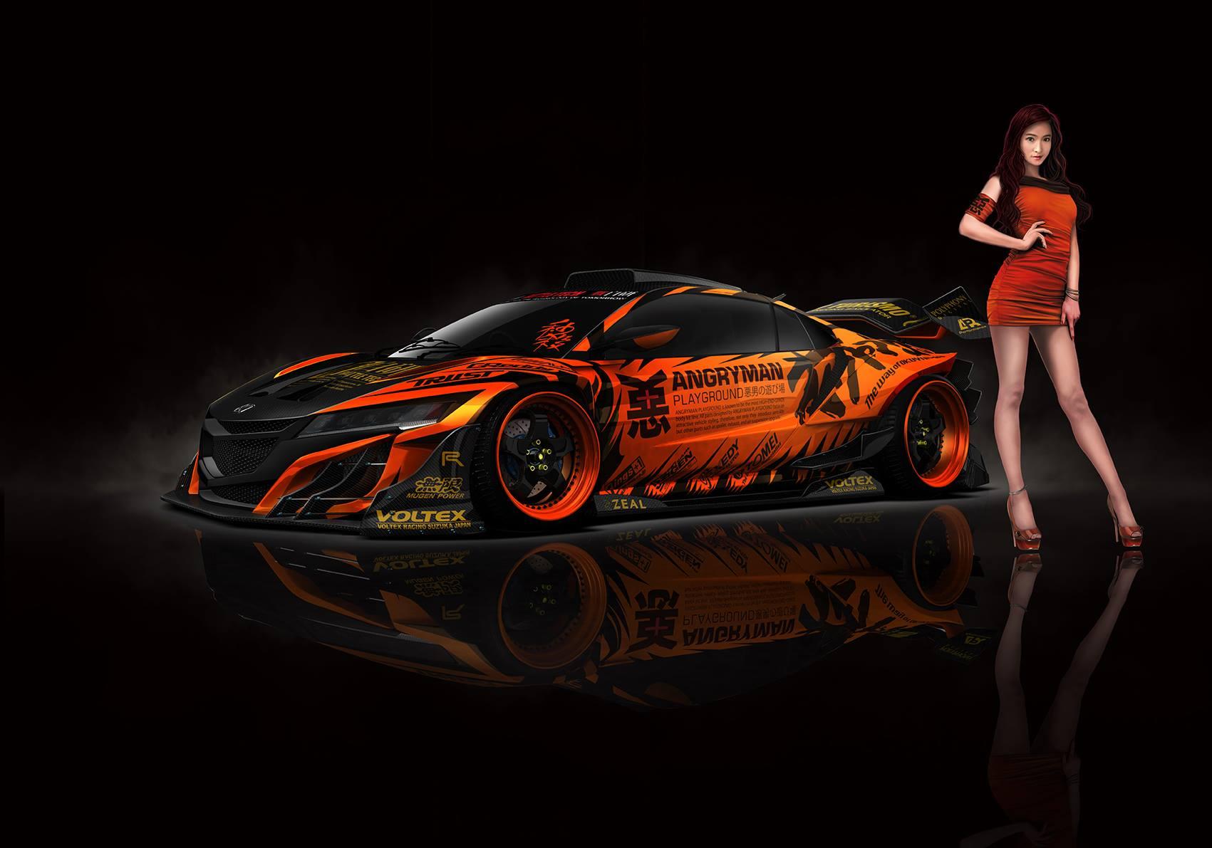 Artist Creates 2015 Honda NSX Super GT Race Car, Pits It Against GT-R - autoevolution