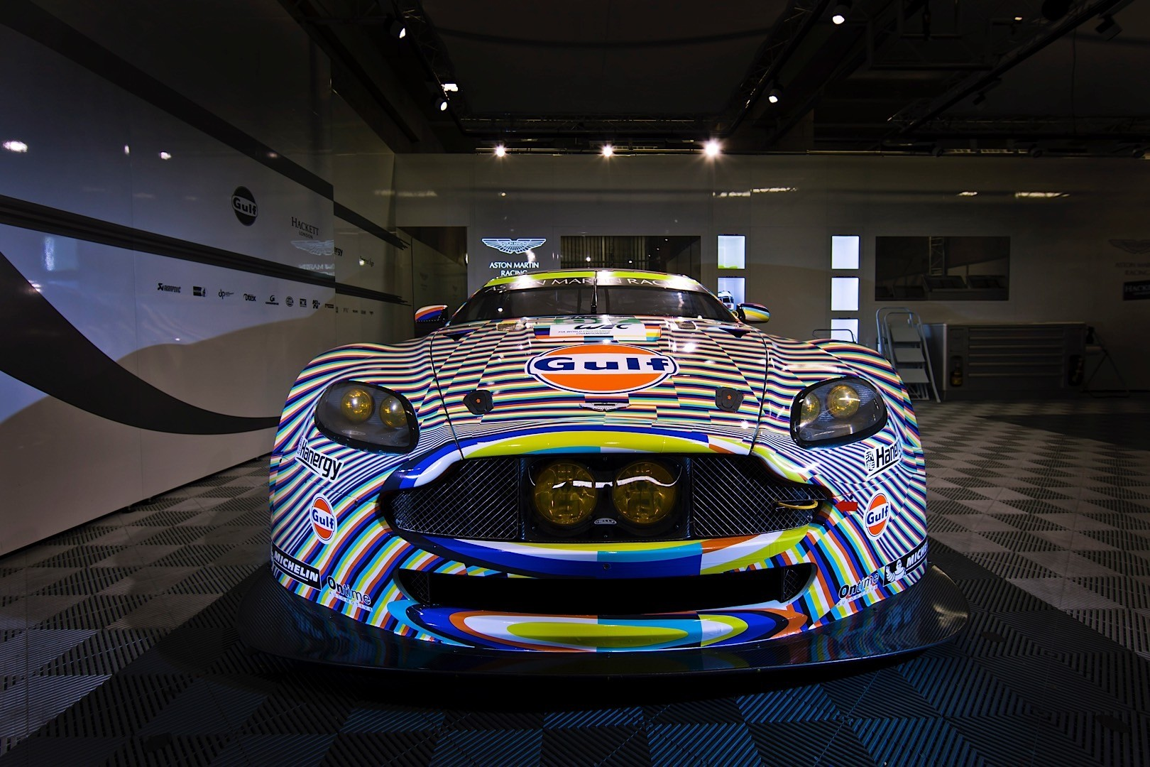 artist creates le mans vantage gte art car it makes us dizzy autoevolution. Black Bedroom Furniture Sets. Home Design Ideas