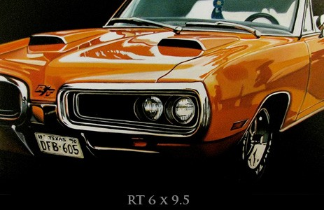Artist Paints Stunning Muscle Car Renderings Captures Their