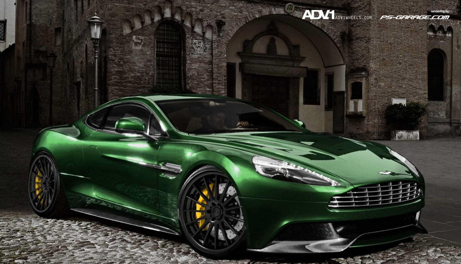 aston martin am 310 vanquish on adv1 wheels autoevolution