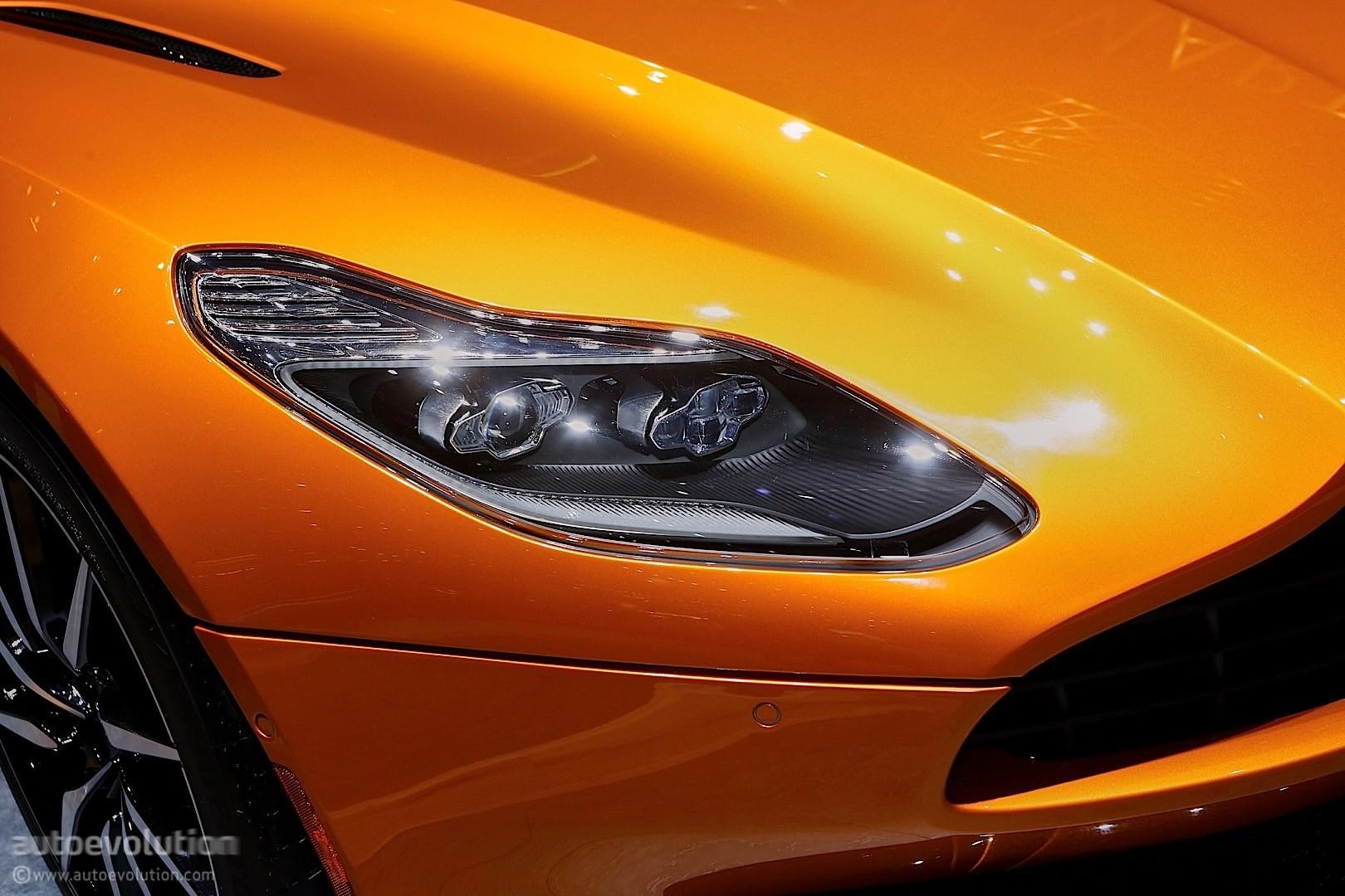 aston martin db11 racecar with vulcan headlights rendering surfaces
