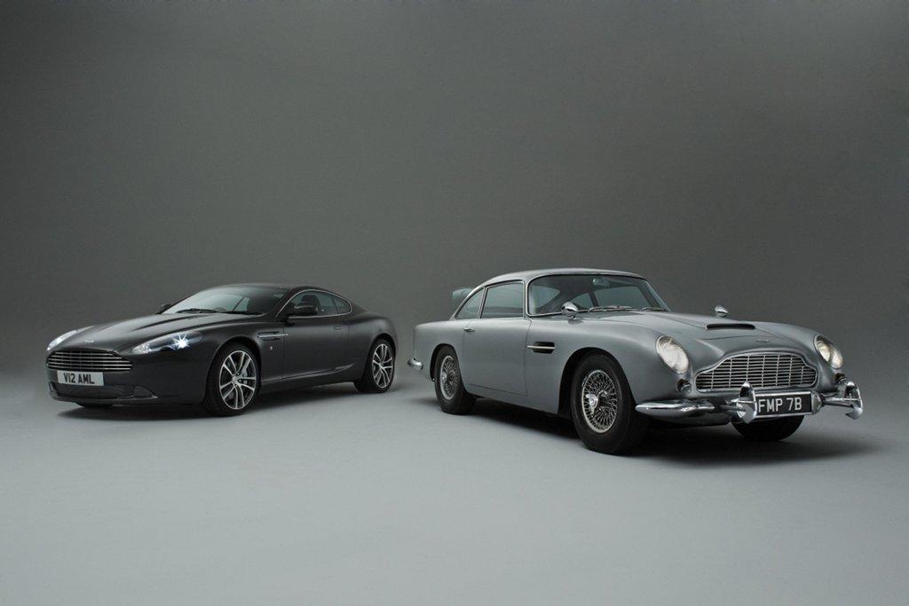 Aston Martin DB5 Bond Car Meets DB9 - autoevolution
