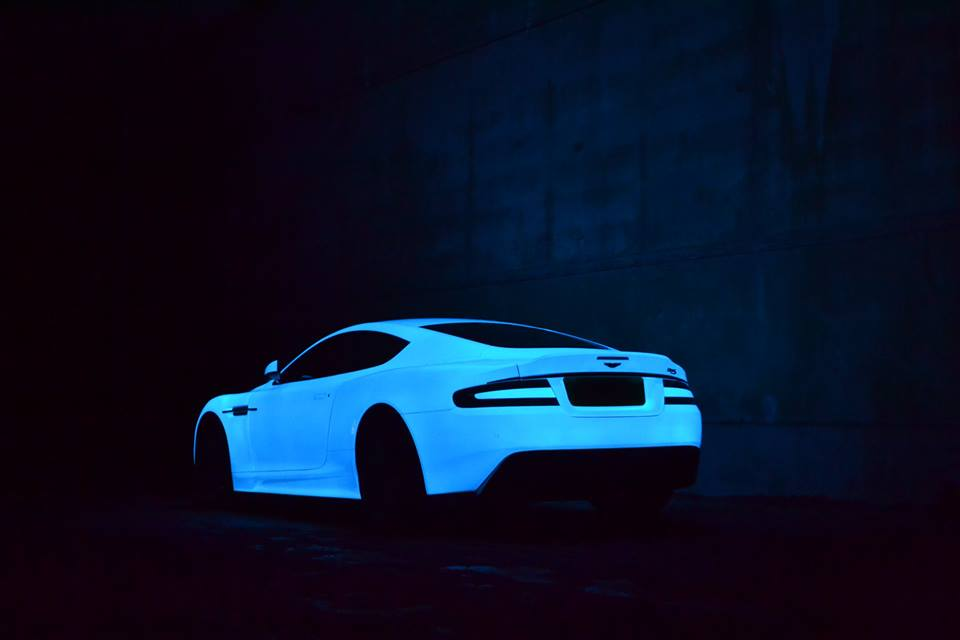 aston martin dbs glow in the dark edition is ready for gumball 3000 autoevolution. Black Bedroom Furniture Sets. Home Design Ideas