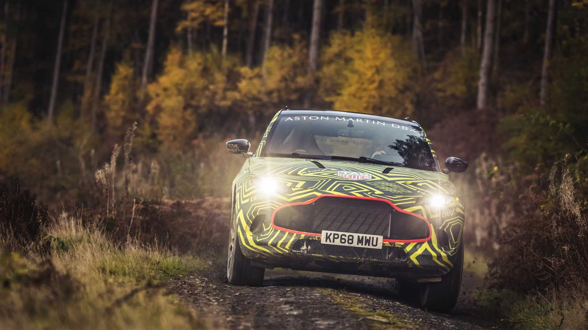 Here's Aston Martin's New DBX SUV Testing On A Filthy Rally Stage