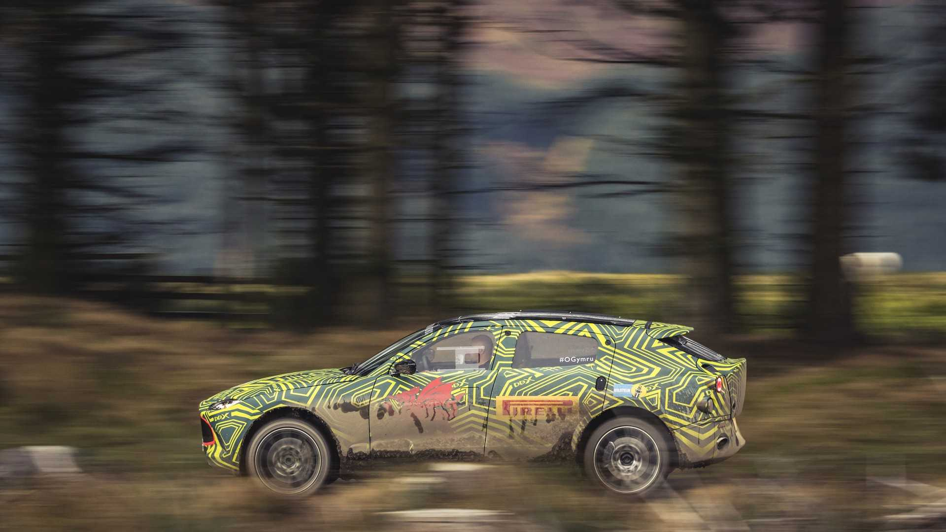 Aston Martin DBX SUV Prototype Put Through Its Paces In The Mud