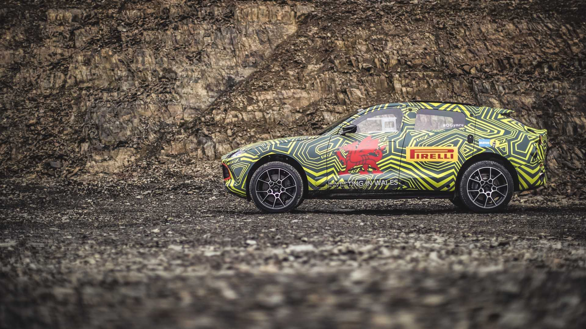 Aston Martin DBX SUV showcased in near-production guise