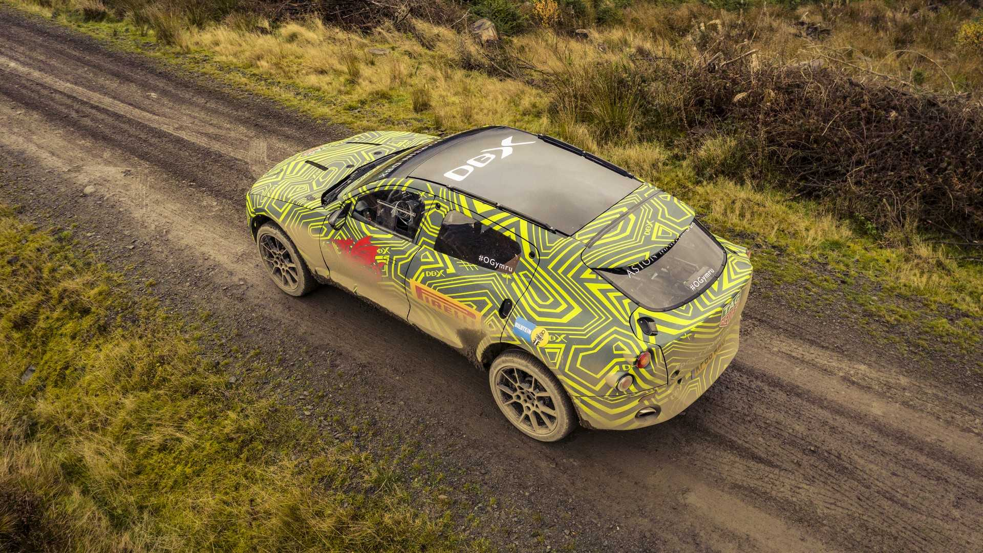 Aston Martin DBX SUV revealed with official camo set