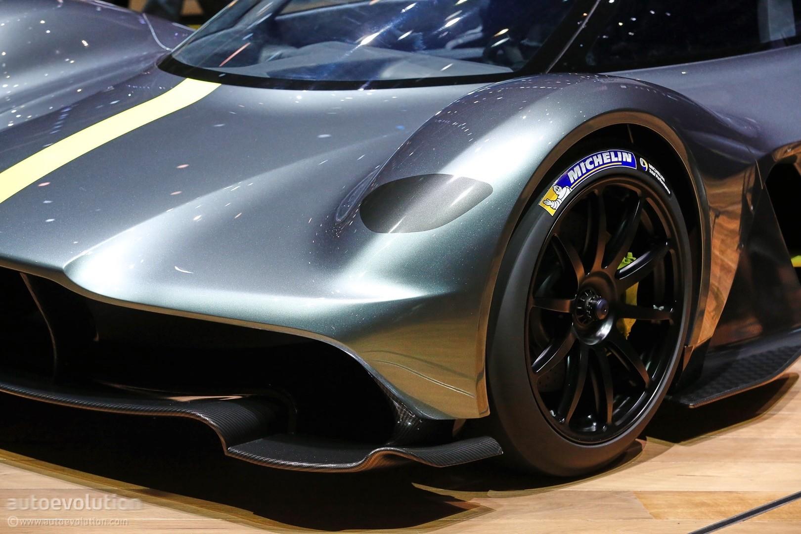 Aston Martin Valkyrie Shows Up In Geneva Wearing Michelin