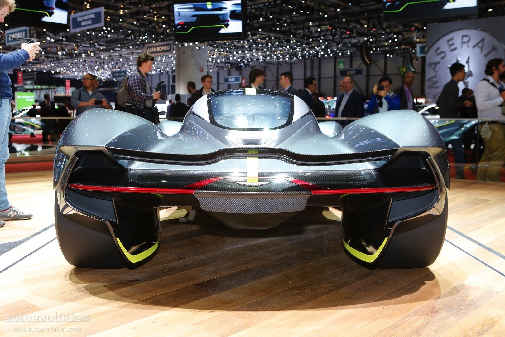 Aston Martin Valkyrie Shows Up In Geneva Wearing Michelin