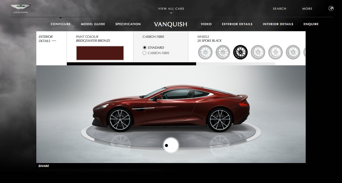 aston martin vanquish configurator autoevolution. Black Bedroom Furniture Sets. Home Design Ideas
