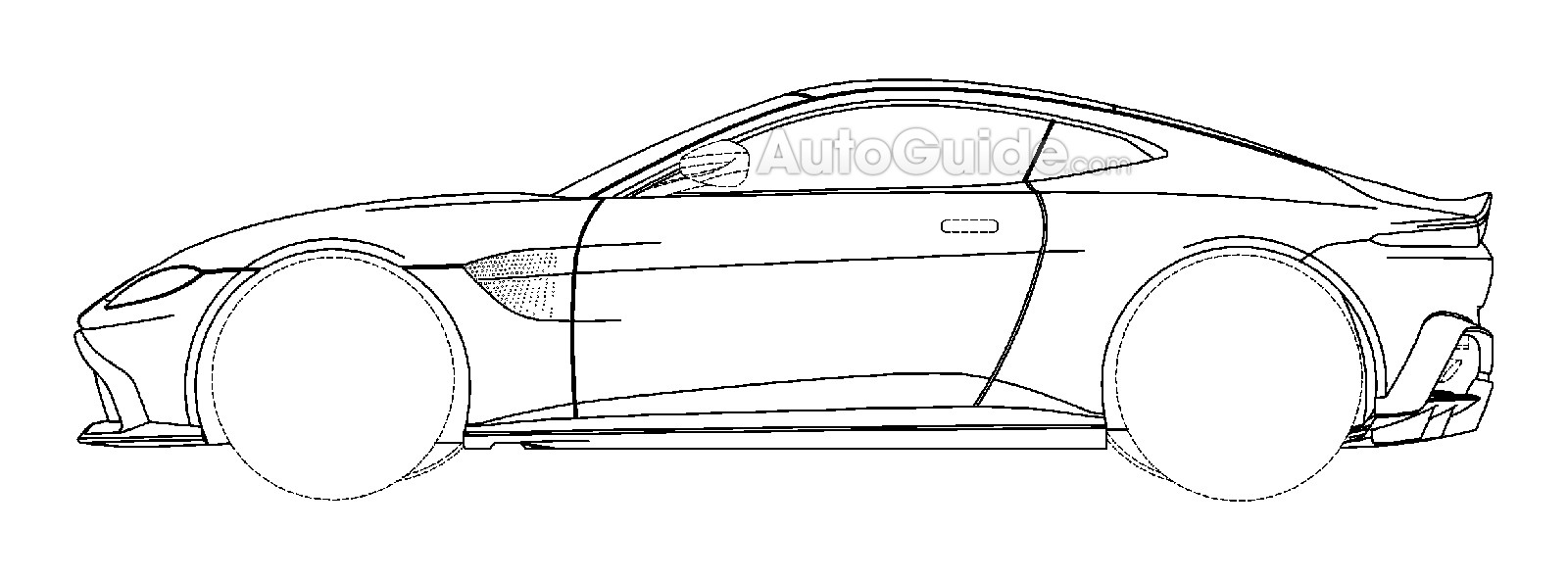 aston martin vantage 2018 side view. 2018 Aston Martin Vantage Patent Drawing Side View