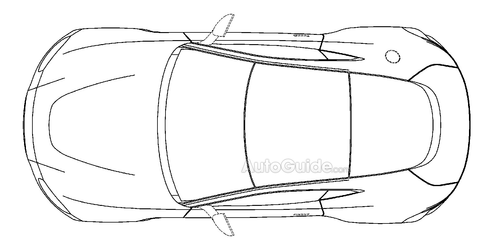 aston martin vantage 2018 side view. 2018 Aston Martin Vantage Patent Drawing Side View D