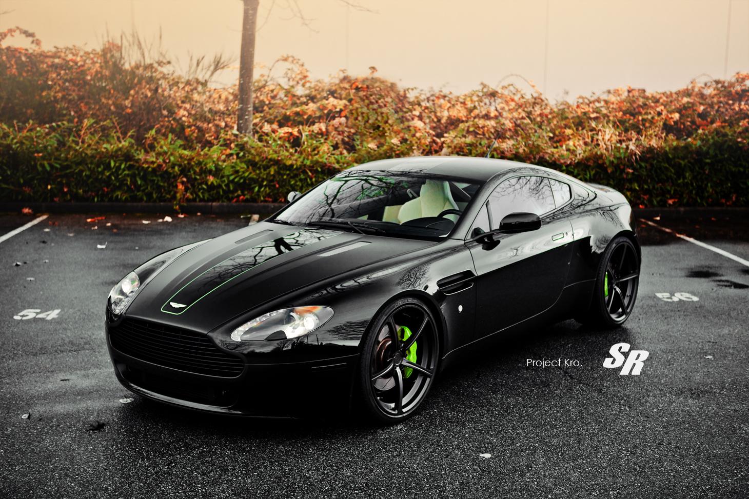 Honda Civic Lime Green Aston Martin Vantage Project Kro - autoevolution